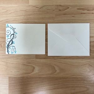 NEW 'Swirls On Ivory' Response Card & Envelope Set